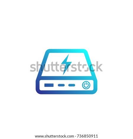 power bank icon  portable...