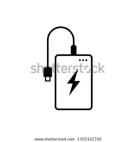 Power bank icon. Simple design, isolate on white background.