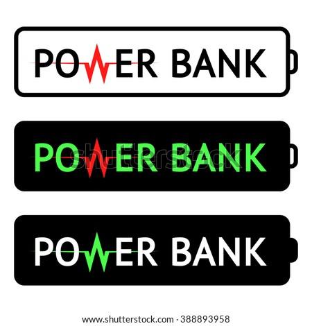 power bank logo vector