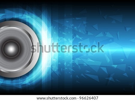 power beat of sound vector, music concept