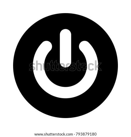 power button circle icon black