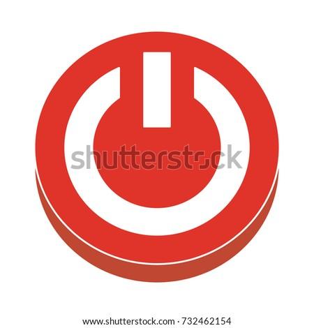 power button flat icon