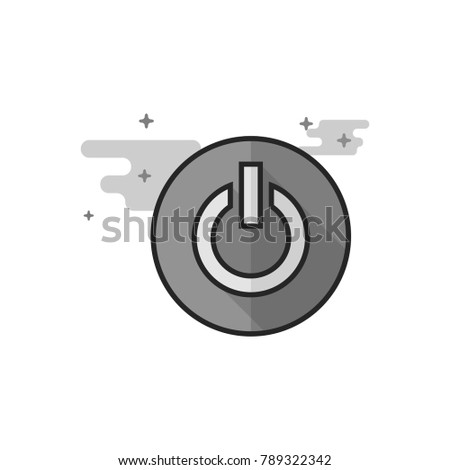 power button icon in flat