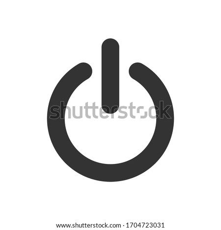 Power button icon off on. Energy  outline illustration isolated on white.