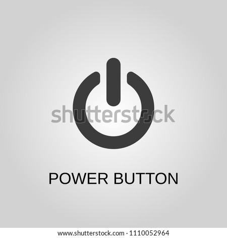 Power button icon. Power button symbol. Flat design. Stock - Vector illustration