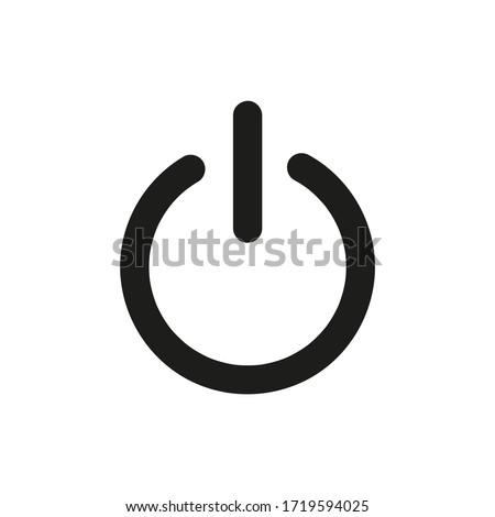 power button icon. power button vector design Foto stock ©