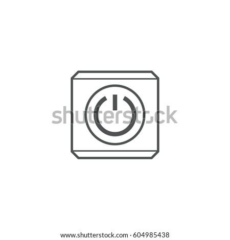 power button icon. sign design #604985438