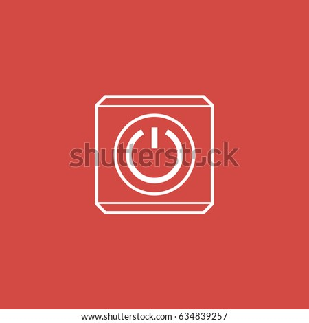 power button icon. sign design. red background #634839257