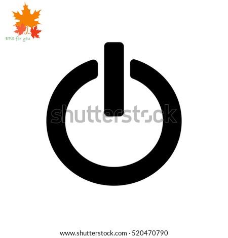 Power button icon. Simple illustration.