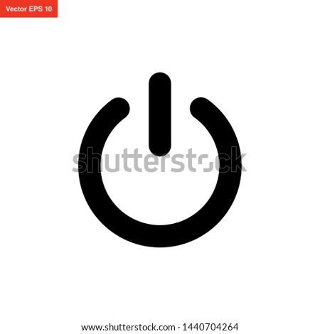 power button icon vector design Foto stock ©