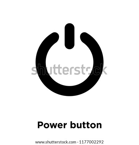 Power button icon vector isolated on white background, logo concept of Power button sign on transparent background, filled black symbol