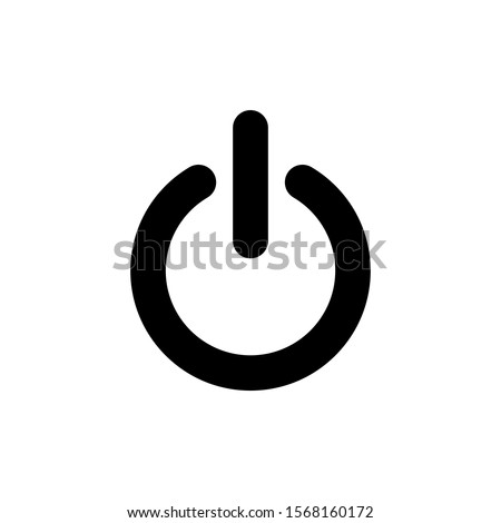 Power button on/off icon vector illustration