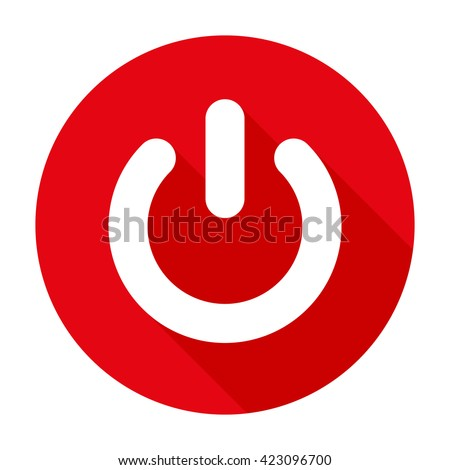 Power Button start Flat design sign/symbol. For mobile user interface