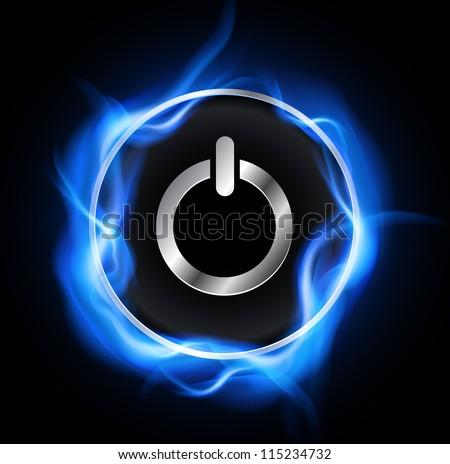 power button  vector design