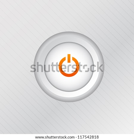Power button. Vector illustration for your design.