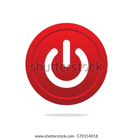 Power button vector isolated