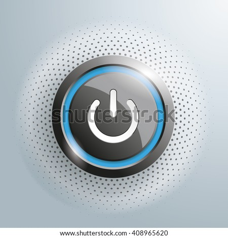 power button with halftone on
