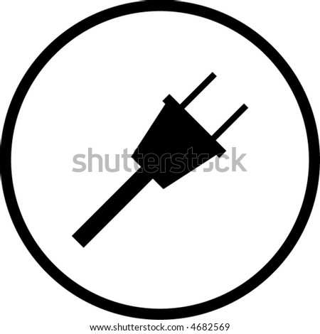 power cable symbol - stock vector