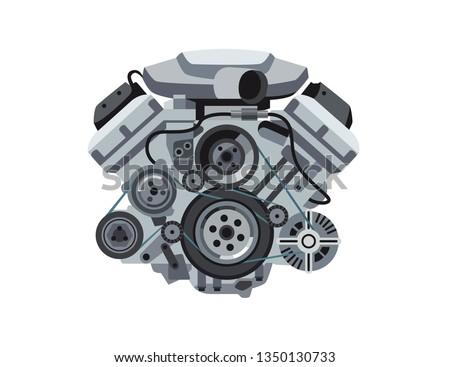 power car engine isolated
