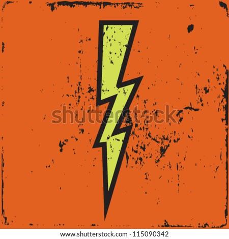 power cartoon style on grunge background vector illustration - stock vector