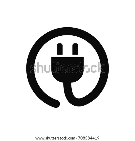 power cord sign icon. plug icon vector. electric plug
