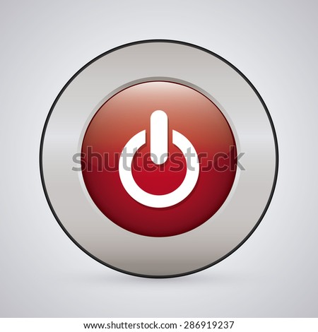 Power design over white background, vector illustration. #286919237
