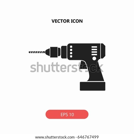 power drill vector icon