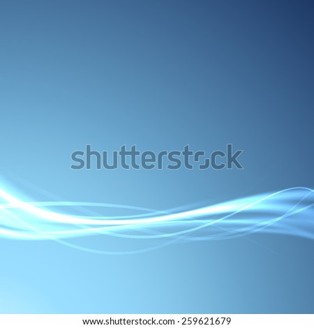 Power energy speed futuristic swoosh wave background - fiber optics broadband bandwidth channel blue layout. Vector illustration