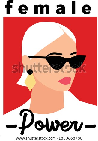 power fashion girl with