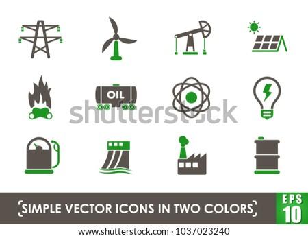 power generation simple vector