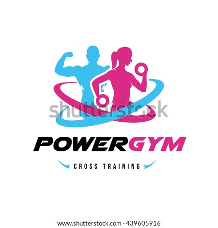 power gym logo  fitness logo
