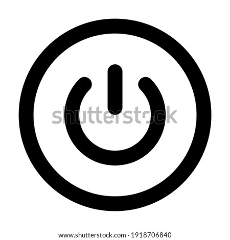 Power icon for graphic design projects Zdjęcia stock ©