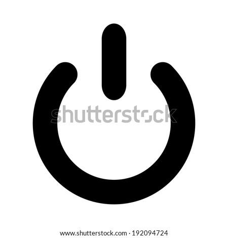 Power icon on white background.