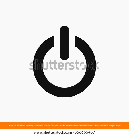 power  icon. One of set web icons