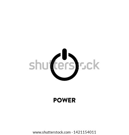power icon vector. power sign on white background. power icon for web and app