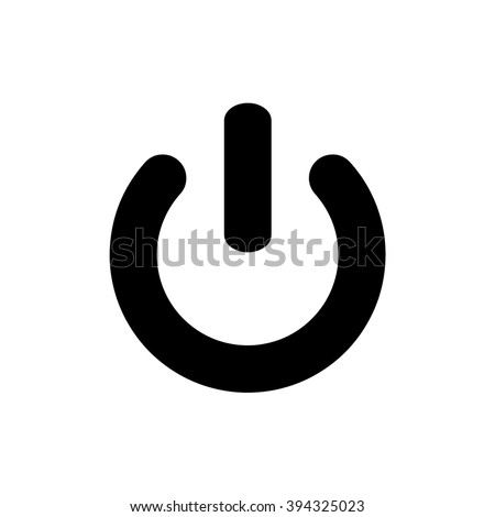 Power icon vector sign
