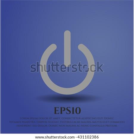 power icon vector symbol flat eps jpg app web concept website