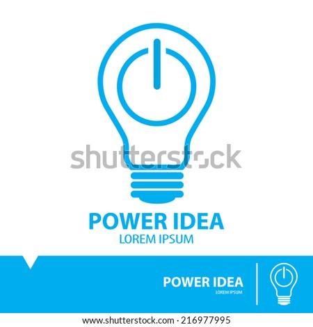 power idea symbol icon  flat