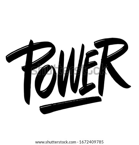 power ink hand lettering