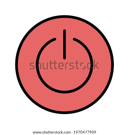 Power, interface, button icon vector image. Can also be used for information technology. Suitable for use on web apps, mobile apps and print media. Stock photo ©