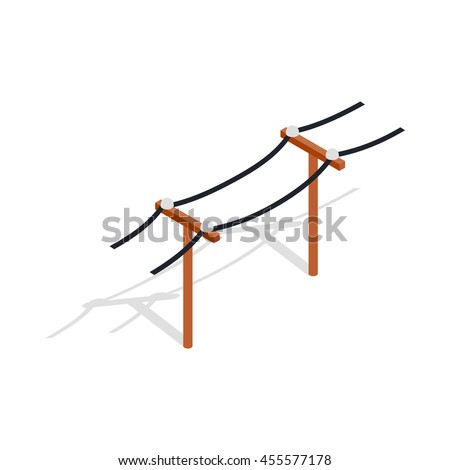 power line icon in isometric 3d