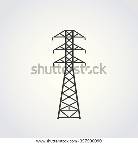 power line illustration vector