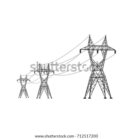 power line vector