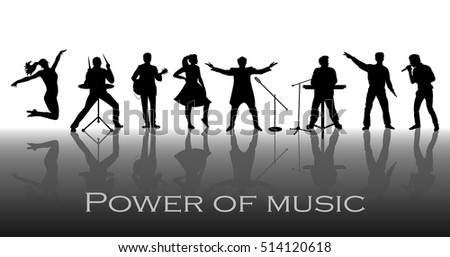 power of music concept set of