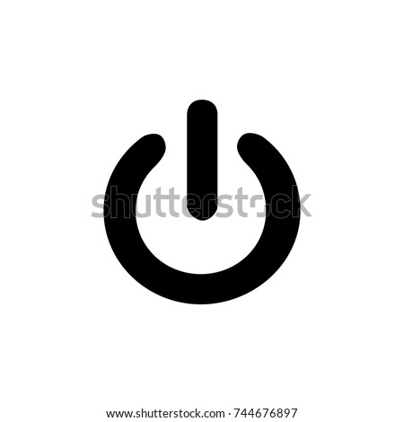 Power off, Power off icon vector, in trendy flat style isolated on white background. Power off icon image, Power off icon illustration