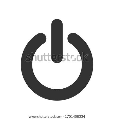 power on off switch vector icon
