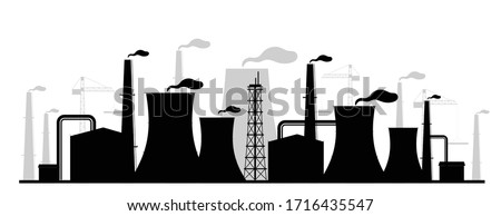 power plant black silhouette