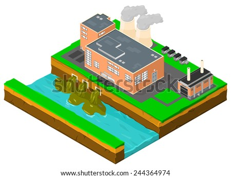 Power plant factory building pollution Factory Pollution