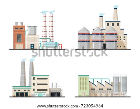 power plants with chimneys