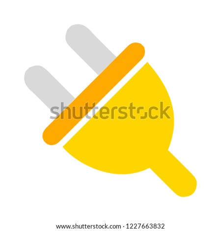 power plug icon. Connection electricity. Vector illustration flat design